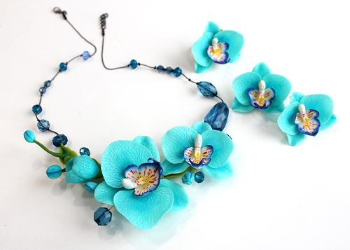 Photo of Комплект  с бирюзовыми орхидеями