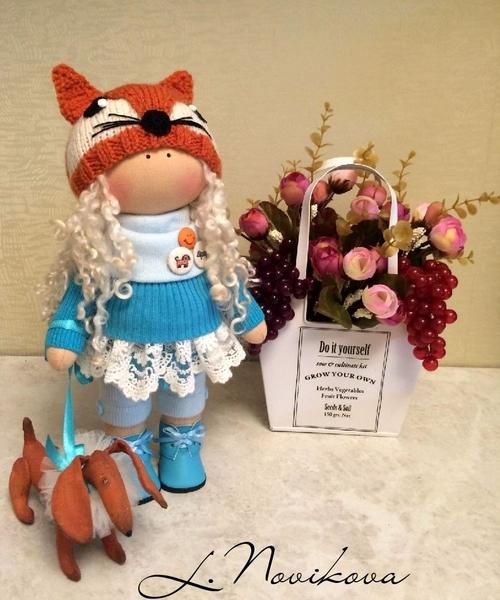 Photo of Интерьерная кукла 30 см  Выполнена из кукольного трикотажа Белый ангел. Набита холлофайбером
