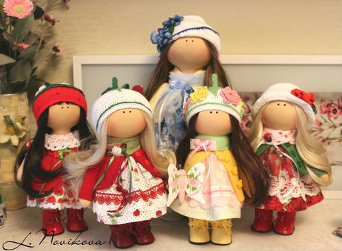 Photo of Интерьерные куклы. Высота 40 см и 25 см. Выполнены из кукольного трикотажа Белый ангел.