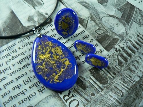 Photo of Украшение голубой-золотистый