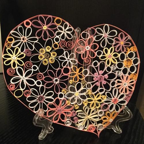Фото для Сердце в технике Квиллинг.