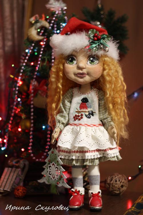 Фото для текстильная куколка СантаНа