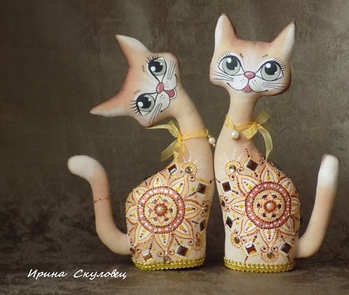 Photo of Текстильный сувенир ... Кошки Золотинки...