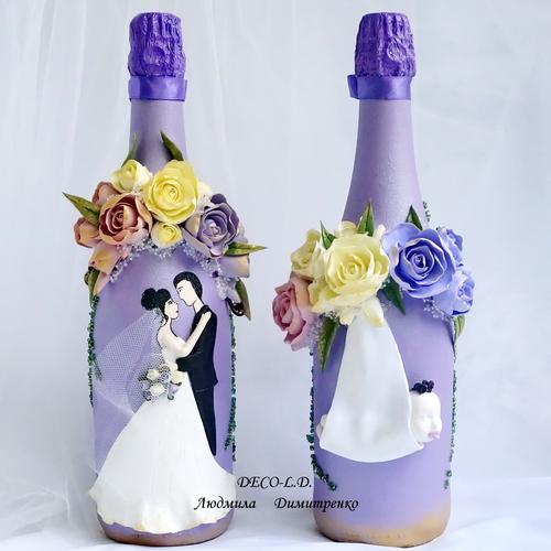 Photo of Свадебная бутылка шампанского