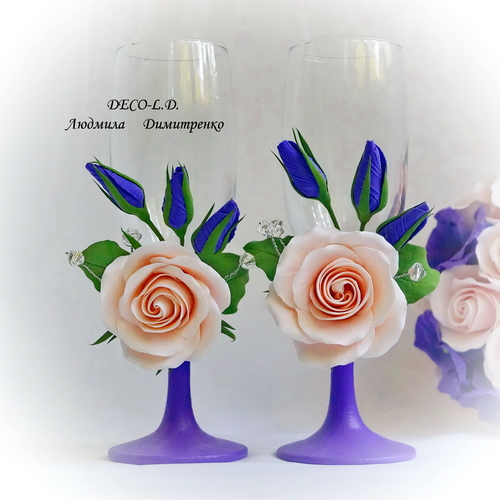 Фото для Свадебные бокалы для молодоженов