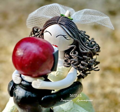 Фото для Свадебная фигурка на торт.