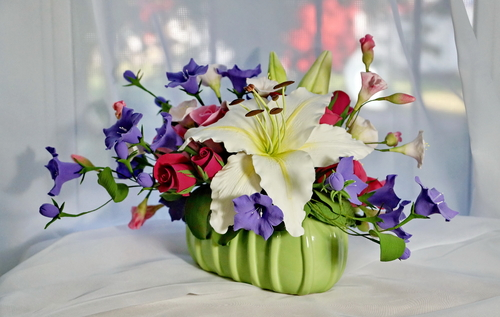 Фото для Цветочная композиция в кашпо