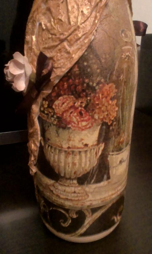 Фото для Декупаж на стекле.Оформление подарочных бутылок. Праздничное шампанское. Пример. На заказ.