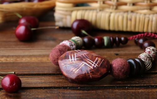 Фото для Колье «Черешневое лукошко»