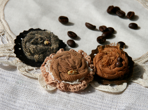 Фото для Комплект брошей «Гадая на кофейной гуще»