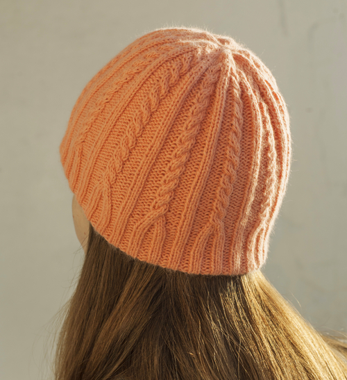 Фото для шапка вязаная персиковая