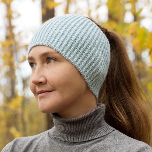 Фото для повязка на голову голубая