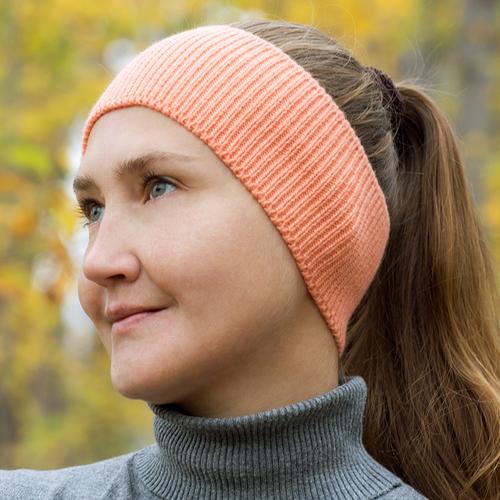 Фото для повязка на голову персиковая