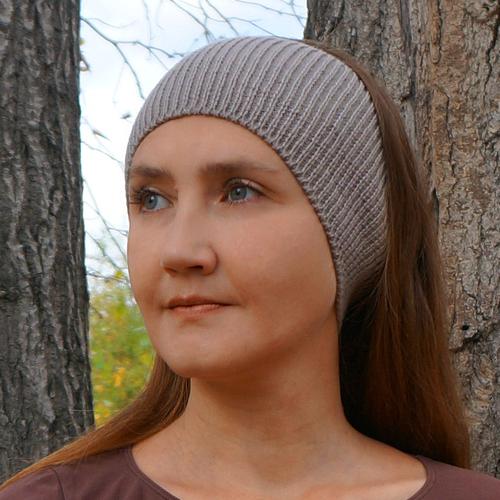 Фото для повязка на голову серая