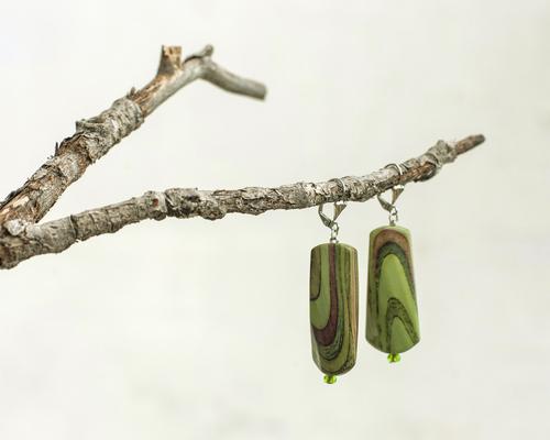 Фото для серьги зеленые