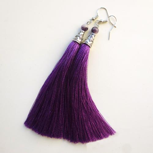 Фото для серьги-кисти фиолетовые