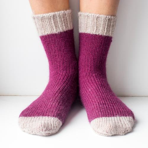 Фото для Носки фиолетово-серые