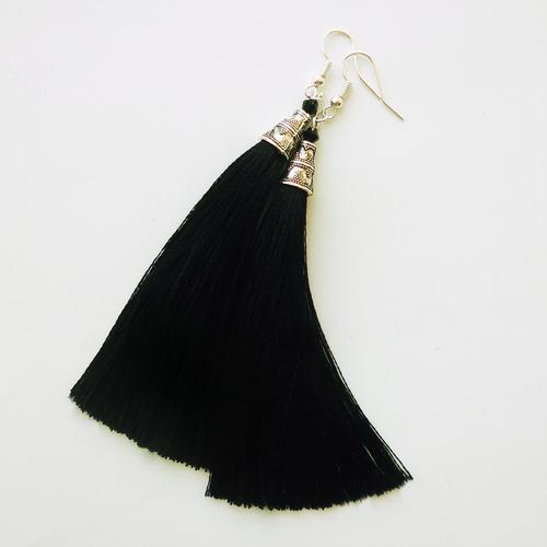 Фото для серьги-кисти черные