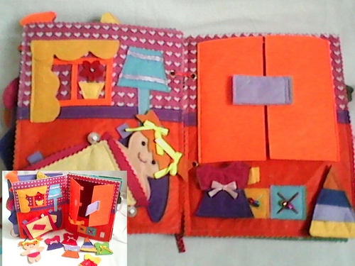 Фото для Детская развивающая книга для малышей.