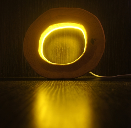 Фото для Светильник из спила дерева