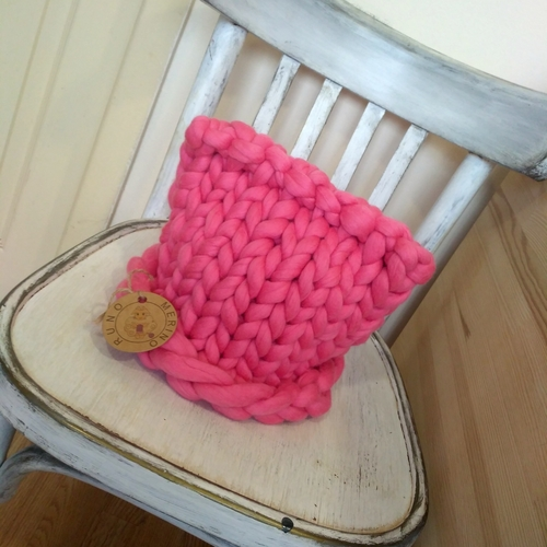 Фото для Шапочка с ушками из толстой пряжи