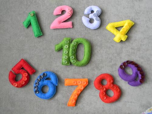 Фото для Цифры и буквы из фетра