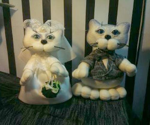 Фото для Свадебная парочка котиков Круть и верть ручной работы.