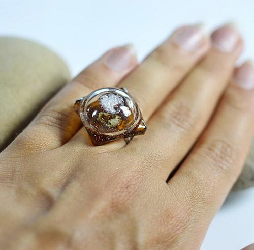 Фото для Кольцо из витражного стекла