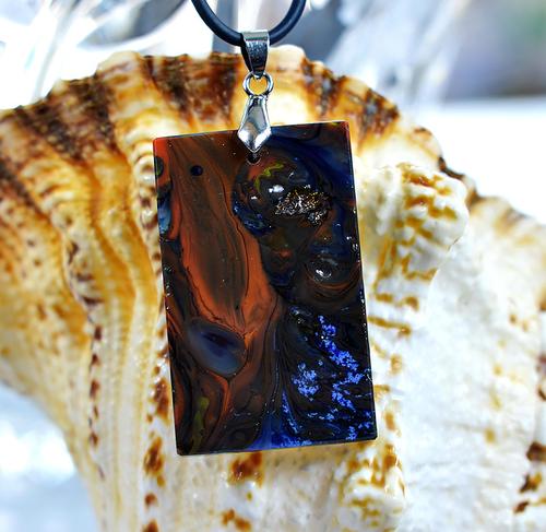 Фото для Комплект украшений из витражного стекла