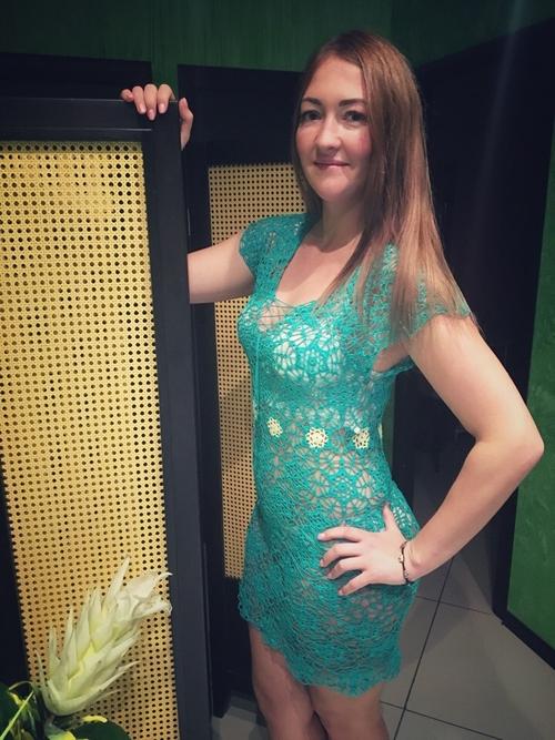 Фото для Пляжное(или эротическое)платье ,,Изумрудная нимфа.,,