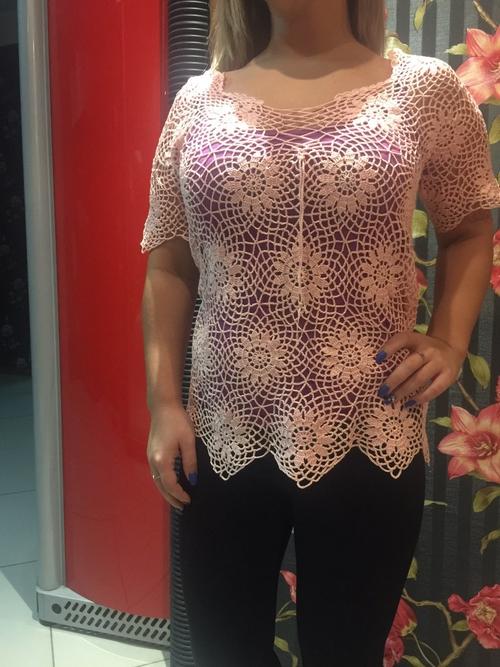 Фото для Розовая топ-блузка ,,Нежное создание,,