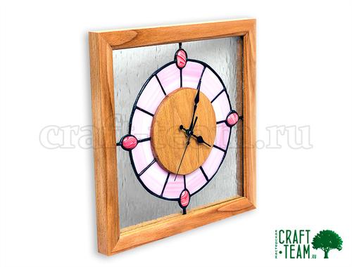 Фото для Настенные часы - бук, витраж Тиффани