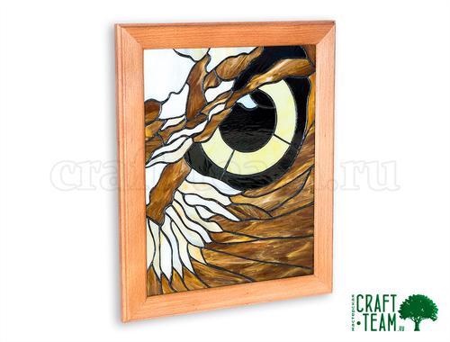 Фото для Витражное панно «Глаз совы»