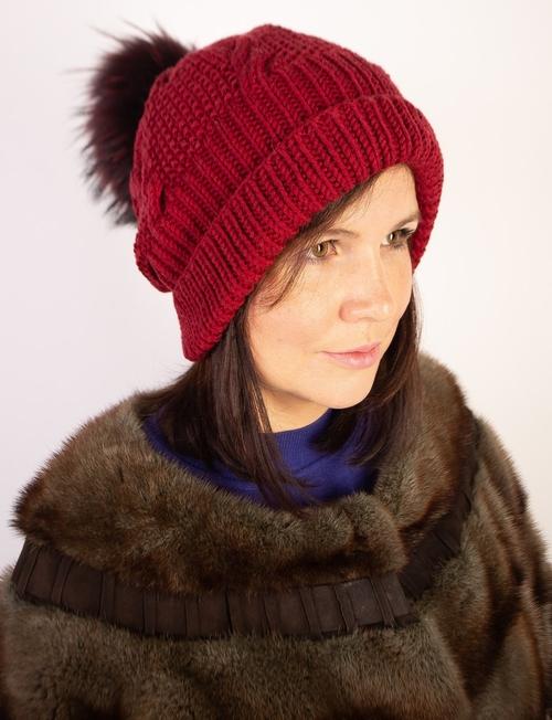 Фото для Вязаная шапка женская из 100% мериноса