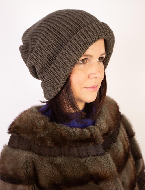 Фото для Объемная вязаная шапка