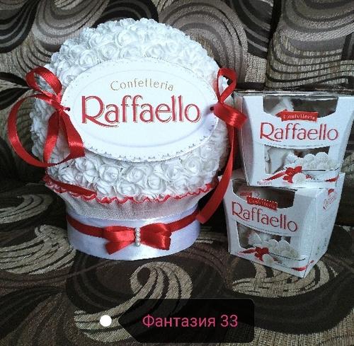 Фото для Гигантская подарочная Раффаэлло с конфетами