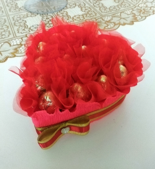 Фото для Подарочное сердце с конфетами