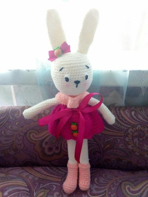 Photo of Зайка в малиновом платье-1000 руб.