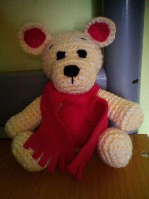 Photo of мишка в розовом шарфике-350 руб