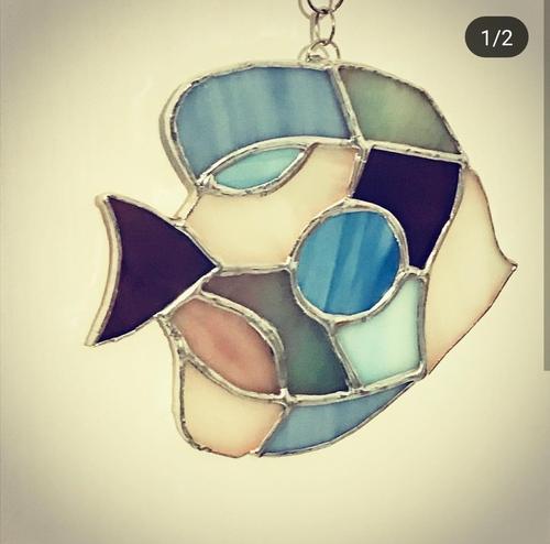 Фото для Витражная подвеска Рыбка