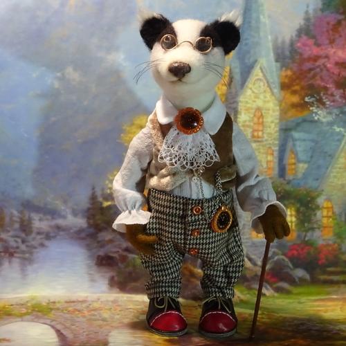 Photo of Войлочная игрушка. Барсук Джентельмен.