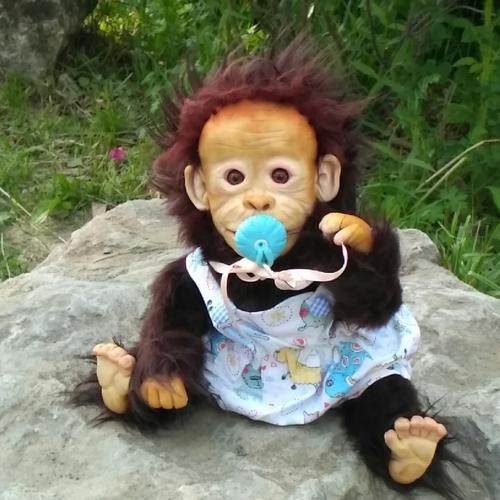 Photo of Кукла ручной работы обезьяныш Кирюшка
