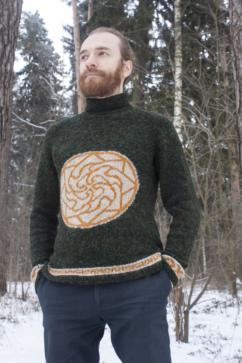 Photo of Мужской свитер со славянской символикой, Здрабережень