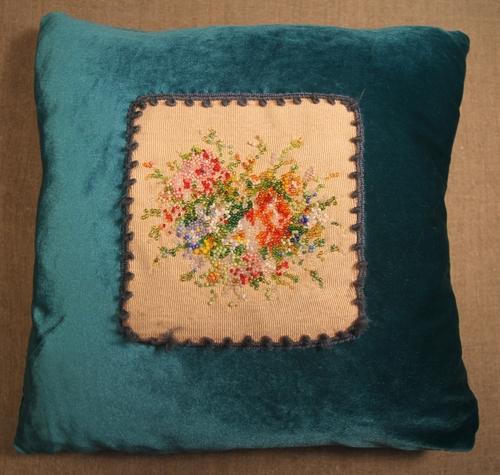 Фото для Декоративная подушка с букетом