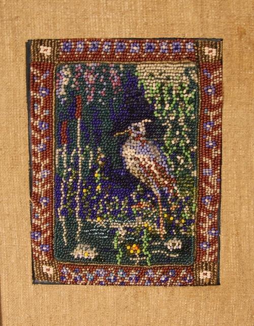 Photo of Цапля. Декоративная вышивка бисером.