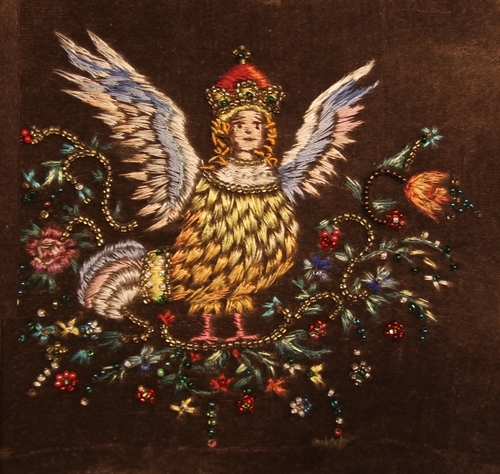 Photo of Сирин. Декоративная вышивка в смешанной технике.