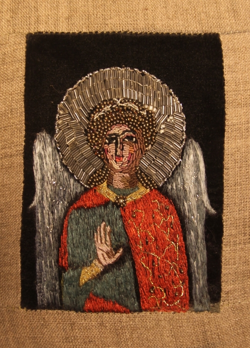 Фото для Ангел. Авторская вышитая икона.