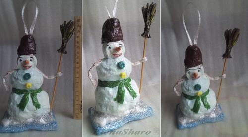 Photo of Новогодняя елочная игрушка «Снеговик».