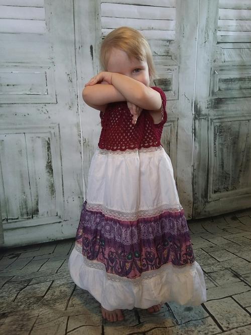 Photo of Сарафан-платье с вязаным лифом