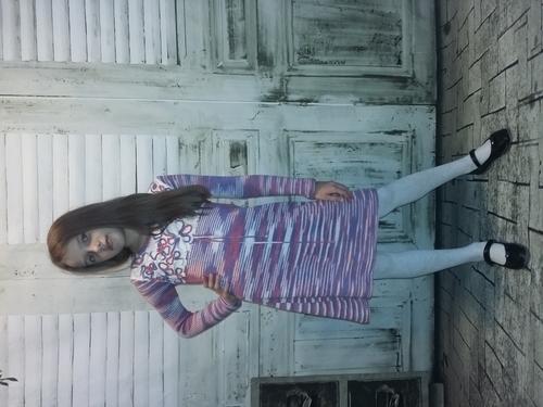 Photo of Платье для девочки с цветочными мотивами, ручная вязка